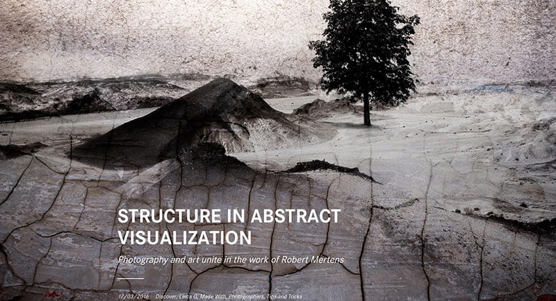 Leica Camera Blog: Robert Mertens - Structure in Abstract Visualisation