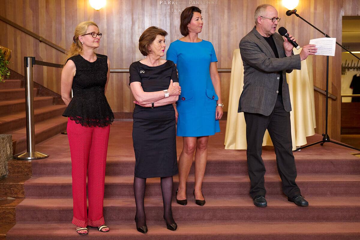 Salzburg exhibition opening: Karin Kaufmann, Dr. Helga Rabl-Stadler, Robert Mertens
