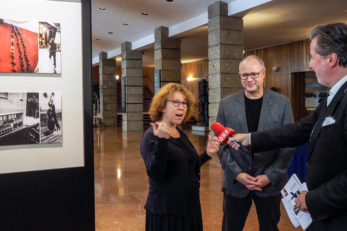 Salzburg exhibition opening:Heidi Simon, Robert Mertens